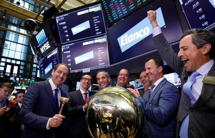 Lors de l'introduction en Bourse d'Elanco, à New York, en septembre 2018.