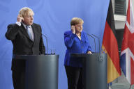 Angela Merkel et Boris Johnson, mercredi 21 août à Berlin.