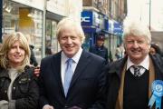 Leo, Rachel, Boris, Stanley et Jo, en 2012, lors des municipales à Londres dont Boris Johnson est sorti à nouveau vainqueur.