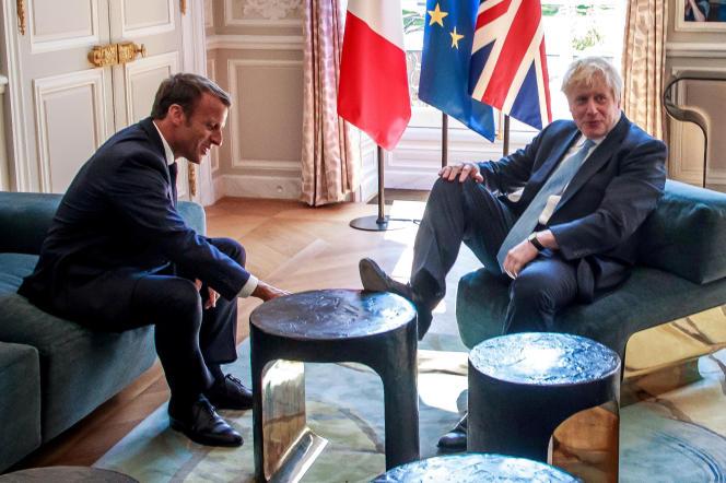 Emmanuel Macron et Boris Johnson, jeudi 22 août à l'Elysée.