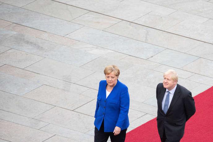 Rencontre entre Angela Merkel et Boris Johnson à Berlin, le 21 août.