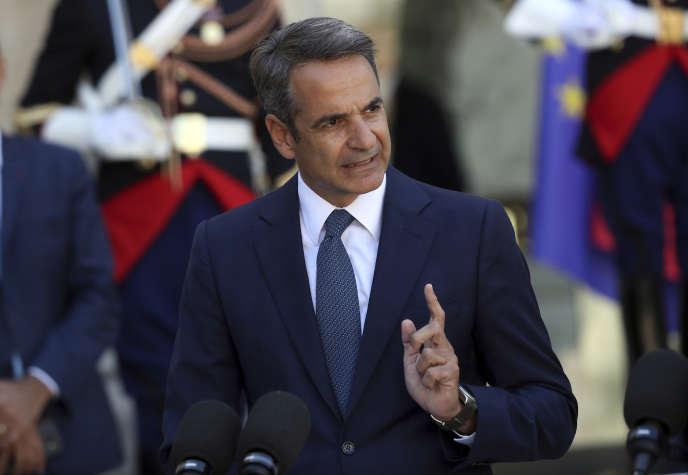 Le premier ministre grec, Kyriakos Mitsotakis, à l'Elysée, le 22 août.