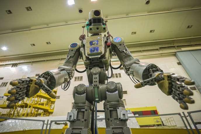 Le robot humanoïde Fedor avant son départ vers l'ISS.