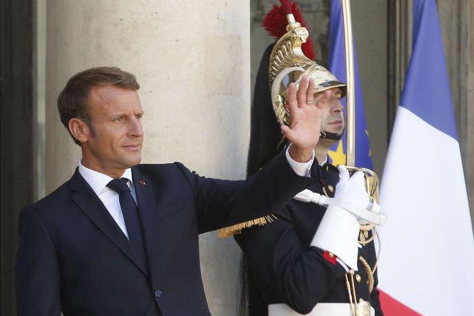 Le président français, Emmanuel Macron, le 22 août à l'Elysée.