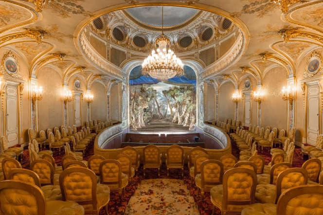 Le théâtre Impérial de Fontainebleau, aménagé entre 1853 et 1856 à la demande de Napoléon III pour son épouse Eugénie.