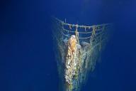Image diffusée par Atlantic Productions lors de la plongée réalisée auprès de l'épave du«titanic».
