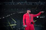 Le rappeur Booba en concert au festival des Vieilles Charrues à Carhaix-Plouguer (Finistère), le 18 juillet.
