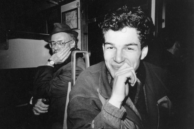 Maxim Leo dans le S-Bahn, en avril 1989.