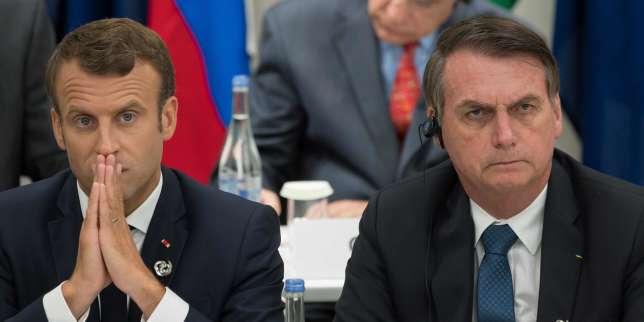 Macron accuse Bolsonaro d'avoir «menti» sur le climat et s'oppose au traité entre l'Union européenne et le Mercosur