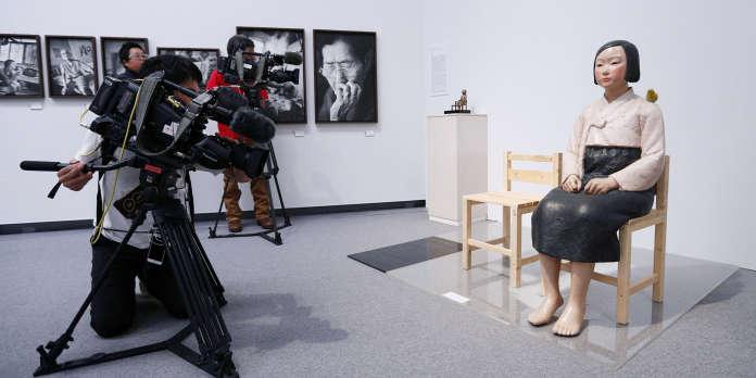 Une statue sud-coréenne censurée au Japon, accueillie à Barcelone