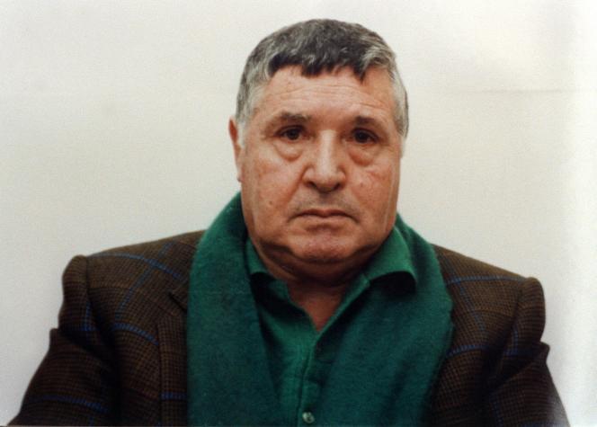 Toto Riinaen janvier 1993, après son arrestation.