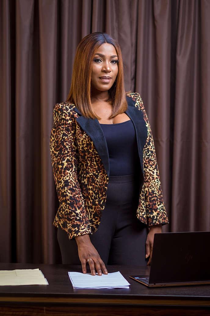 La blogueuse nigériane Linda Ikeji, à Abuja, le 4 avril.