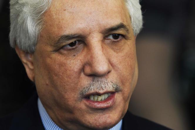 L'ancien ministre algérien de la justice Tayeb Louh à Alger, en décembre 2015.