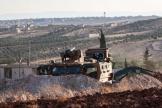 Un blindé turc dans la province d'Idlib, le 23 août.