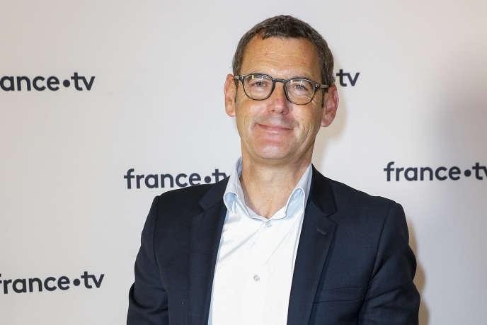Francis Letellier, présentateur actuel du « Soir 3», à Paris, le 18 juin.