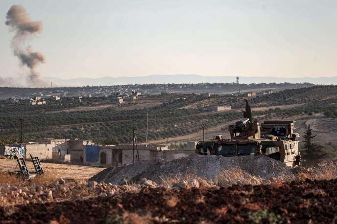 Le poste d'observation turc de Morek, Syrie, le 23août2019.