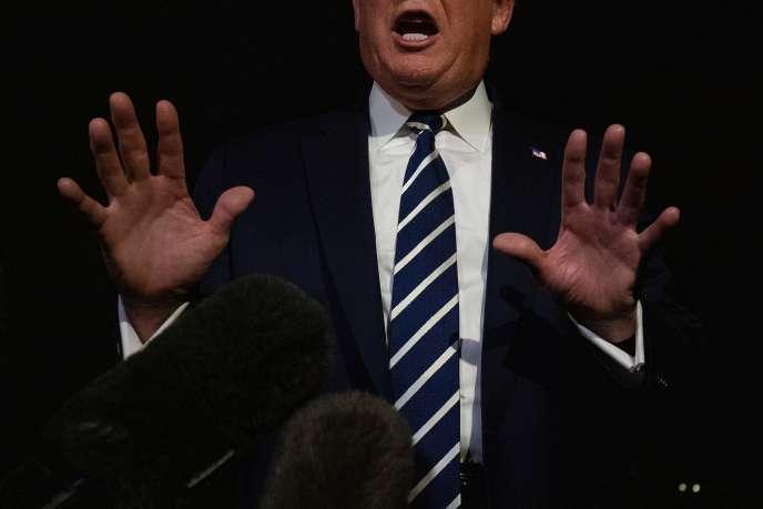 Donald Trump s'est adressé à la presse depuis la Maison Blanche avant son départ pour le G7 de Biarritz, le 23 août.