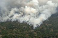 Incendie près de Porto Velho (Brésil), le 23 août.