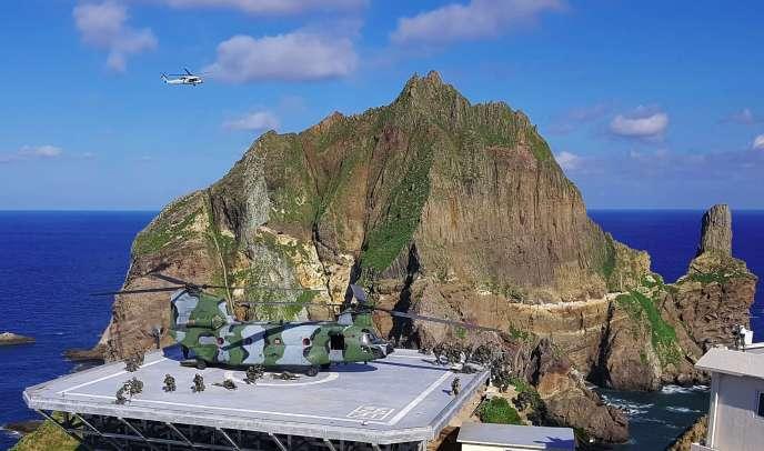 Les rochers Liancourt, appelés iles Dokdo en coréen et Takeshima en japonais, sont au centre du contentieux entre Corée du Sud et Japon.