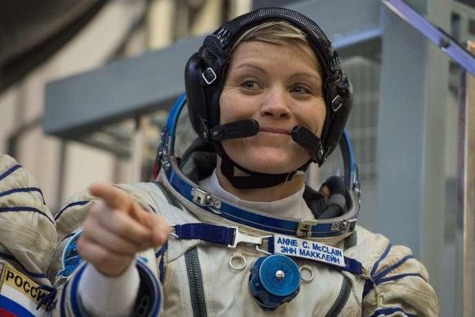 L'astronaute Anne McClain à Moscou, le 14 novembre 2018.