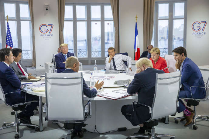 Meeting of G7 Heads of State and Government in Biarritz, Sunday 25 August.