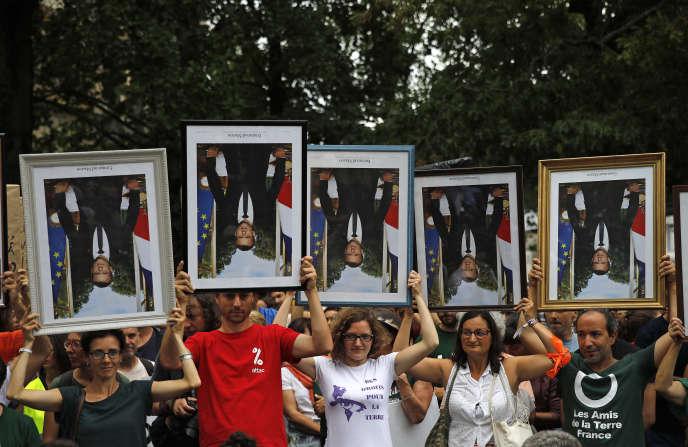 Manifestation anti-Macron dimanche 25 août à Bayonne.