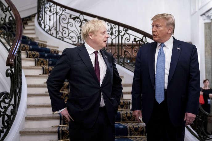 Le Premier ministre britannique Boris Johnson et le président Donald Trump lorsdu sommet du G7 à Biarritz, le 25 août 2019.