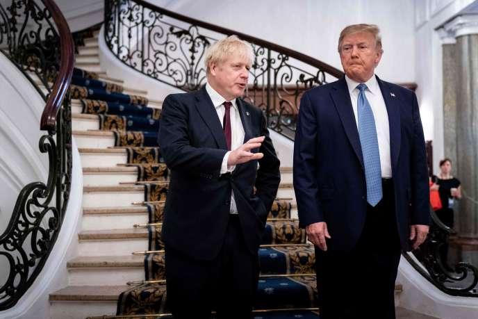 Boris Johnson et Donald Trump,avant un petit-déjeuner de travail lors du sommet du G7, à Biarritz, le 25 août 2019.