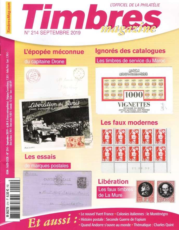 « Timbres magazine» de septembre.