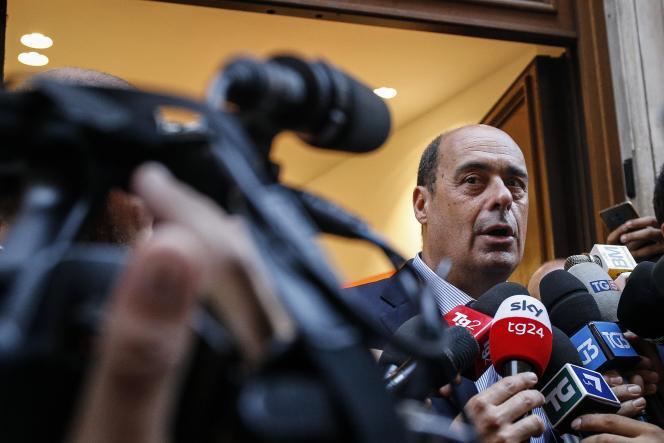 Le chef du Parti démocrate, Nicola Zingaretti, le 26 août à Rome.