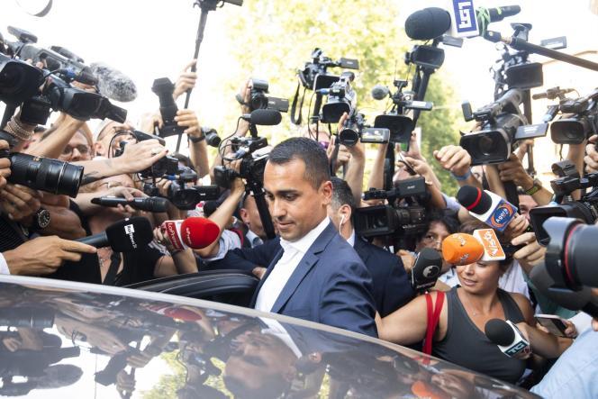 Le chef de file du Mouvement 5 étoiles Luigi Di Maio, à Rome le 26 août, alors que l'Italie est plongée dans une crise politique.