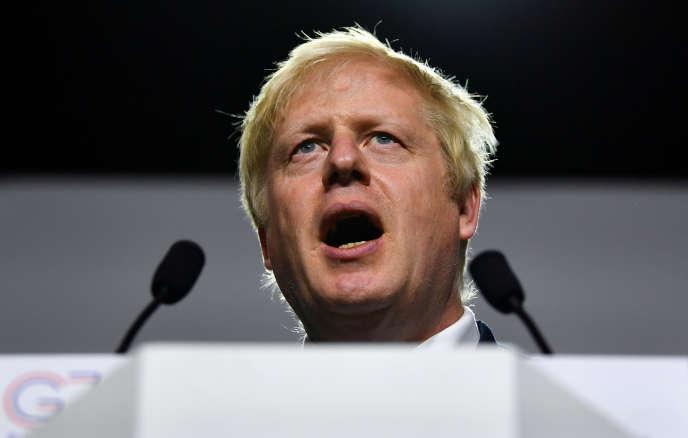 Le premier ministre britannique, Boris Johnson, le 26 août pendant le G7 à Biarritz.