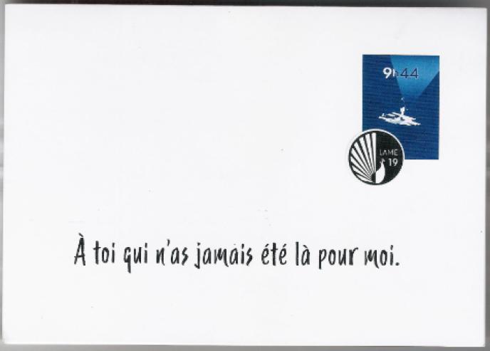 Un visuel inspiré par la philatélie pour «9 h 44», joué à Avignon.