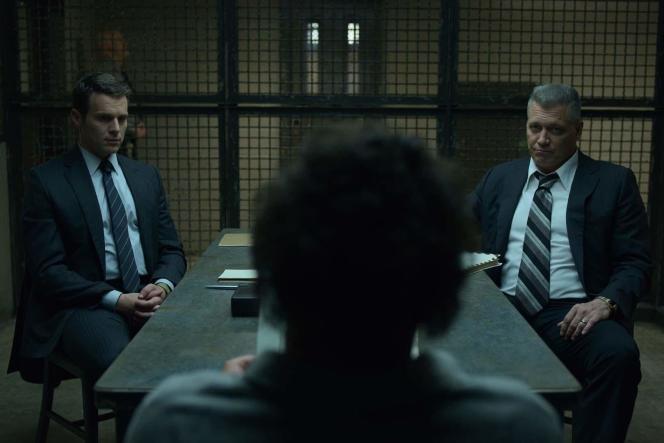 Jonathan Groff et Holt McCallany dans« Mindhunter», deJoe Penhall et David Fincher.