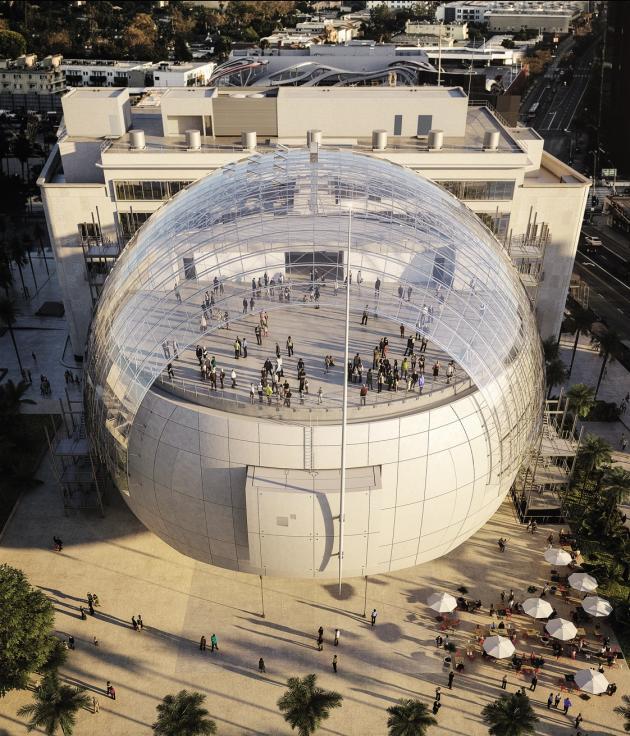 Le futur Academy of Motion Picture Arts and Sciences, équipé d'une salle de 1 000 places, conçu par l'Italien Renzo Piano.