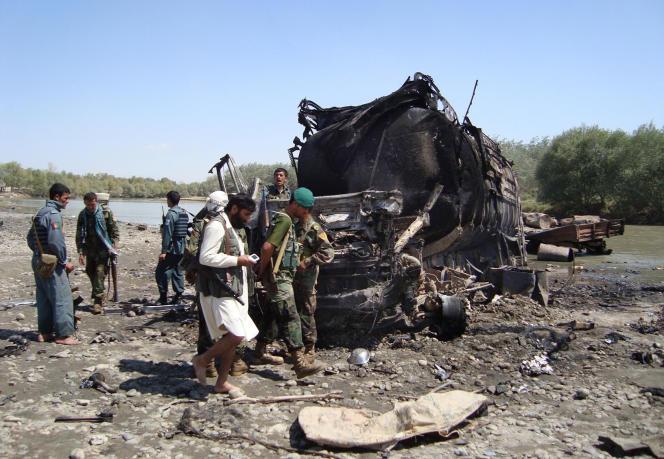 Sur les lieux du bombardement, en septembre 2009.