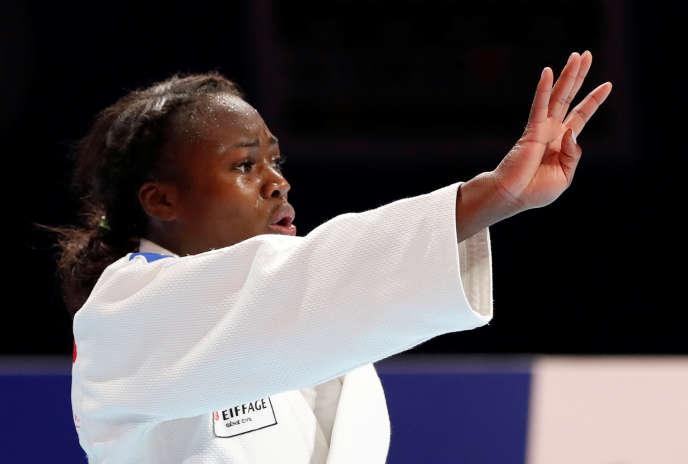 Clarisse Agbegnenou s'est imposée en finale au terme d'un combat étouffant et ardu de 11 min et 11 s, face à la JaponaiseMiku Tashiro.