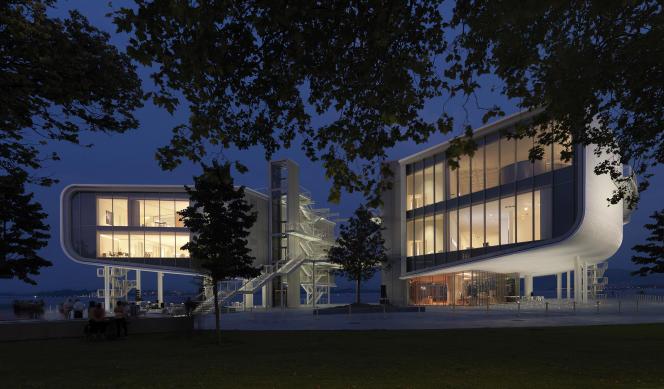 Le Centro Botin de Santander, en Espagne, conçu par l'architecte Renzo Piano.