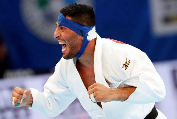 Le judokaSaeid Mollaei lors des Mondiaux de judo à Tokyo, le 28 août 2019.