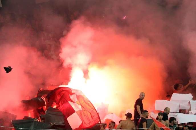 Les supporteurs niçois au stade Allianz Riviera de Nice, le 28 août 2019.