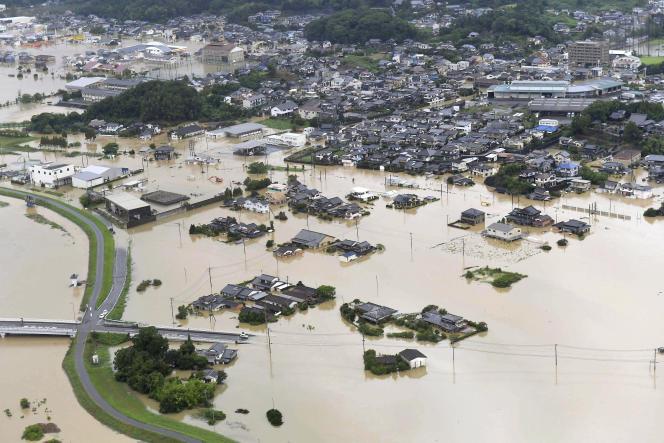 A Takeo, dans la préfecture de Saga au Japon, le 28 août.