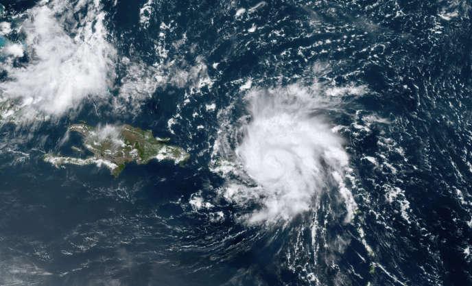 Image satellitaire de Dorian, mercredi 28 août.