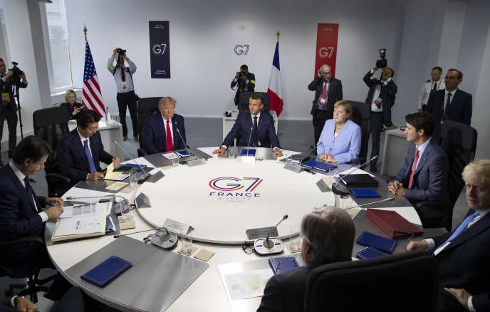 Au sommet du G7 de Biarritz (Pyrénées-Atlantiques), le 26 août.
