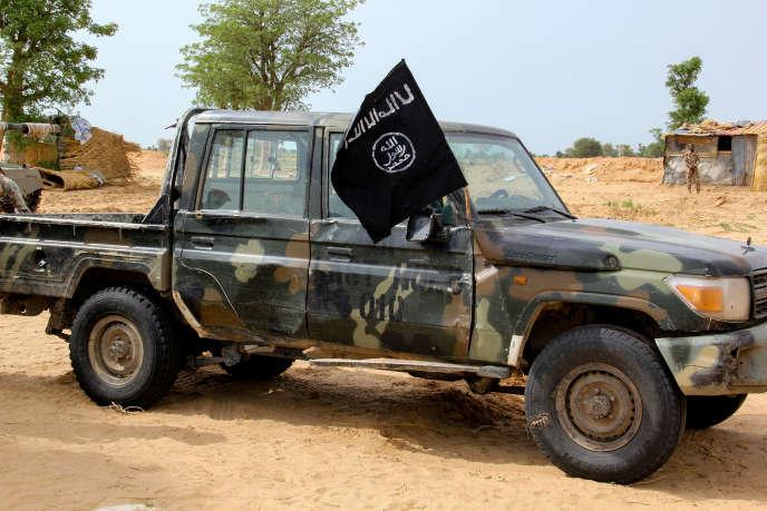 Un véhicule du groupe Etat islamique en Afrique de l'Ouest (Iswap) à Baga, dans le nord-est du Nigeria, le 2 août 2019.