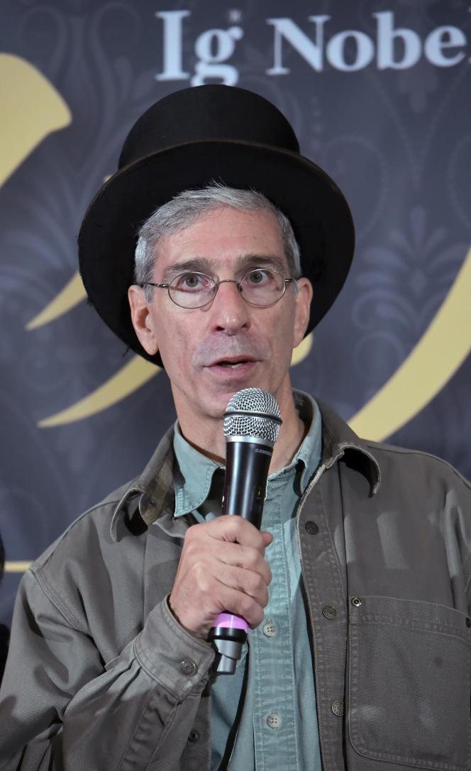 Le fondateur et président des « Ig Nobels» à Tokyo, en septembre 2018.
