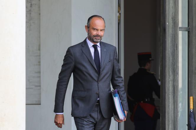 Le premier ministre Edouard Philippe quitte l'Elysée en mars 2018.