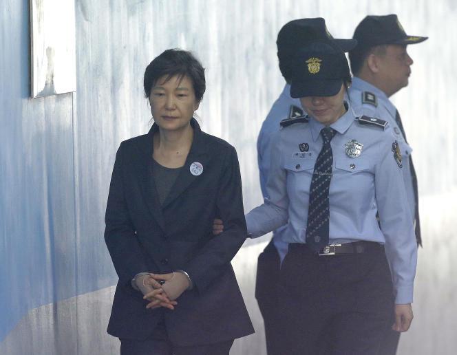 L'ex-présidente sud-coréenne Park Geun-hye en octobre 2017.