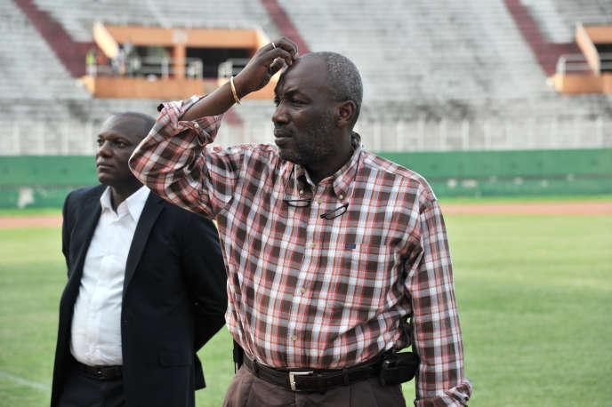 Augustin Sidy Djallo, le président de la Fédération ivoirienne de football, au stade Félix-Houphouët-Boigny d'Abidjan, en mars 2013.