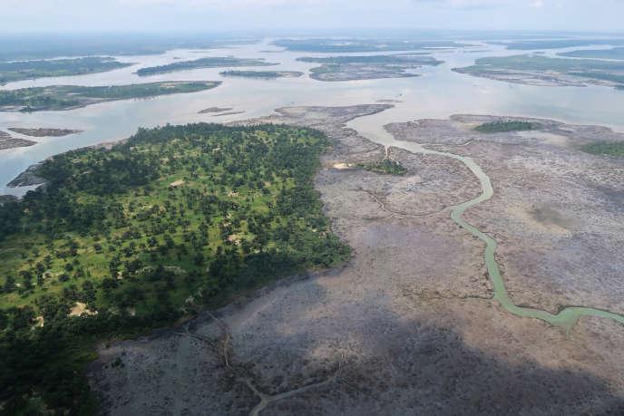 Le delta du Niger, dans le sud du Nigeria, en août 2018.