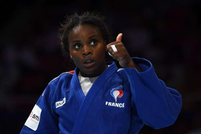 La judokate française Madeleine Malonga après sa victoire en demi-finale des championnats du monde de Tokyo, le 30 août.